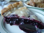 Wild Maine blueberry pie .. eaten in Maine